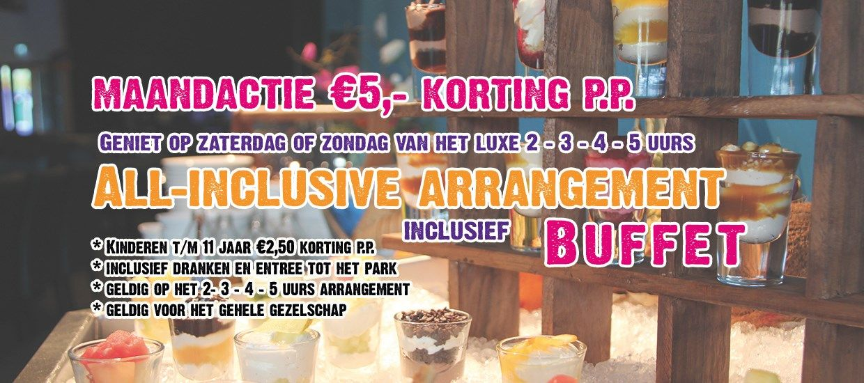 All-inclusive arrangement met €5 korting p.p.
